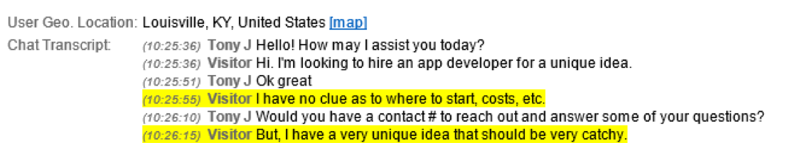 Possible Conversation with UX Developer