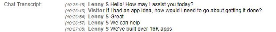Alternative Customer Conversation with UX Developer