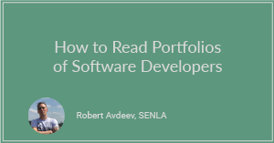 How to Read Portfolios of Software Developers